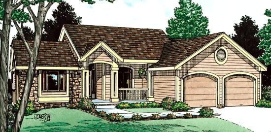 Bungalow Ranch House Plan 94977 Elevation