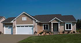 Bungalow Country Ranch House Plan 94978 Elevation