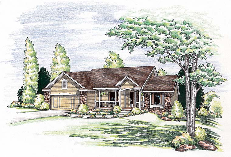 Bungalow Country Ranch House Plan 94978