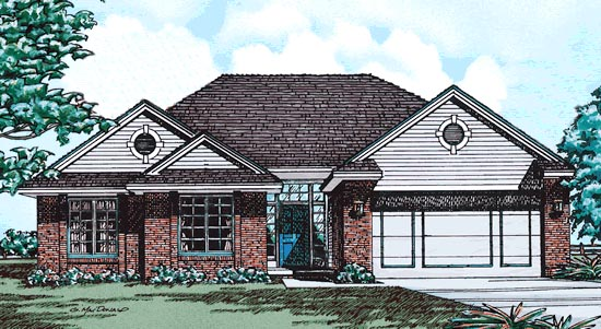 Traditional House Plan 94986 Elevation
