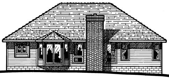 Traditional House Plan 94986 Rear Elevation