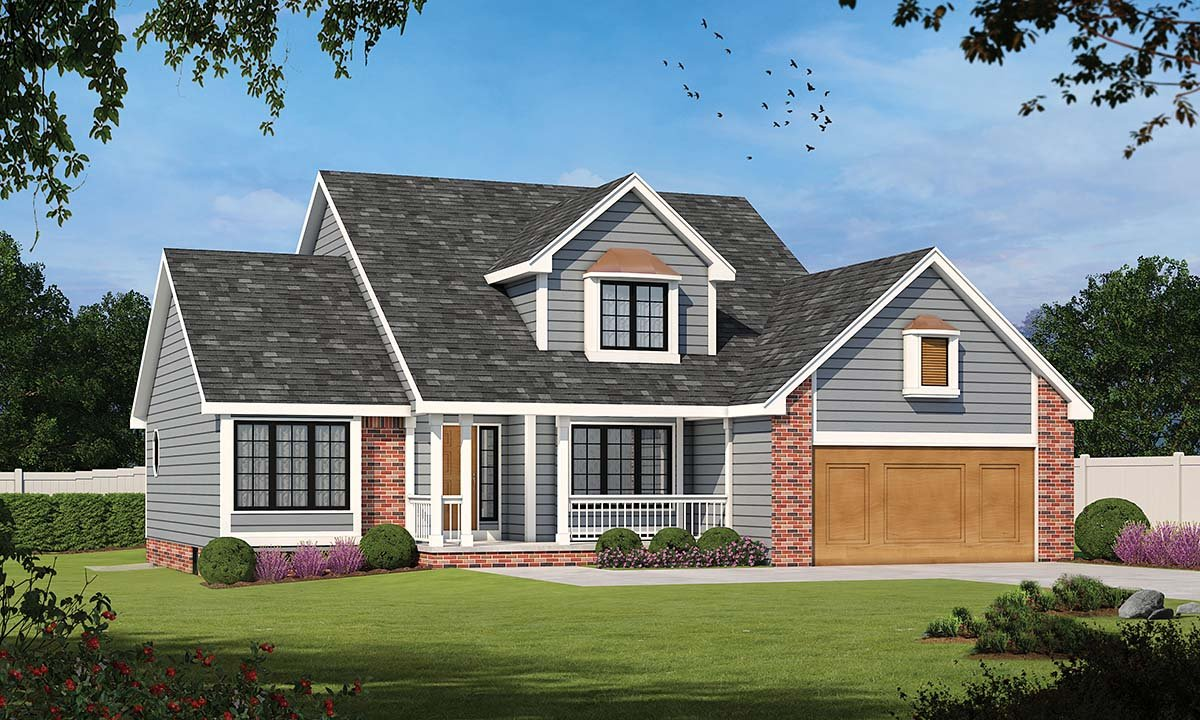 Country , Farmhouse , Traditional House Plan 94989 with 3 Beds, 3 Baths, 2 Car Garage Elevation