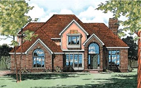 European House Plan 94993 Elevation