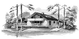 House Plan 95003 | Contemporary Style Plan with 1632 Sq Ft, 4 Bedrooms, 2 Bathrooms Elevation