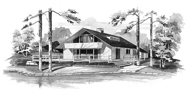Contemporary House Plan 95003 Elevation