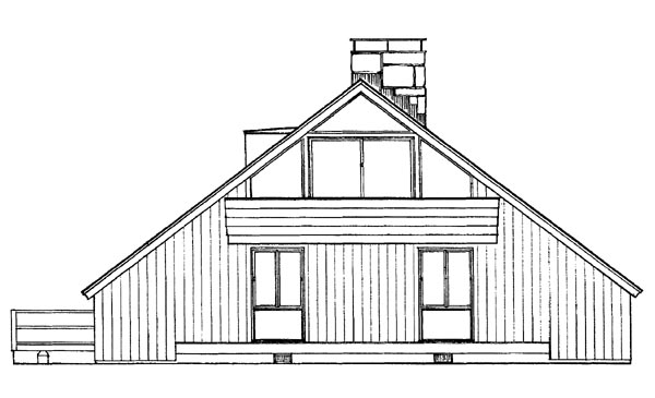Contemporary House Plan 95003 Rear Elevation