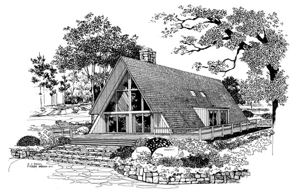 A-Frame Contemporary House Plan 95005 Elevation