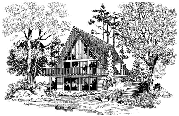 Contemporary House Plan 95008 Elevation