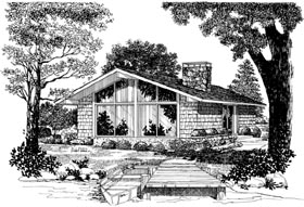 Contemporary Retro House Plan 95009 Elevation