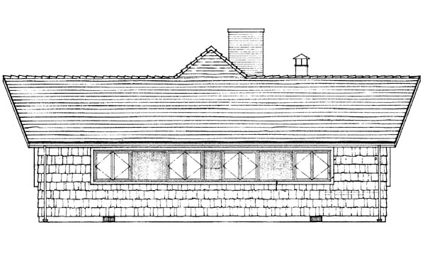 House Plan 95010 Rear Elevation