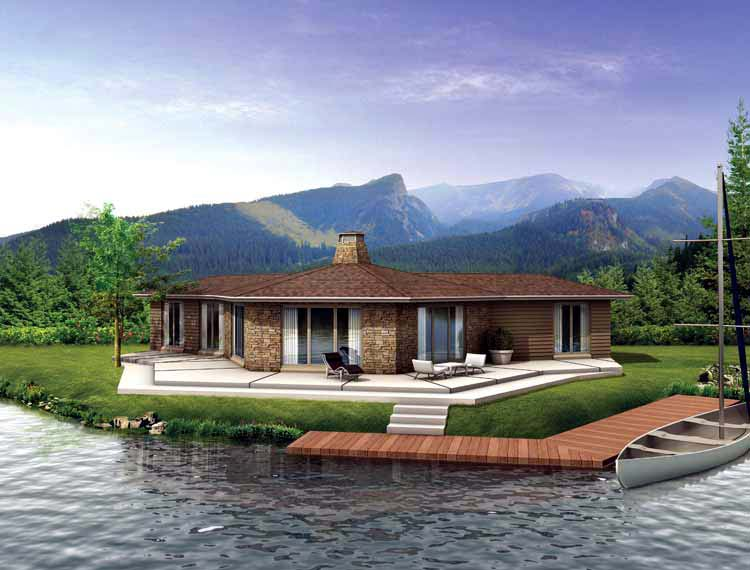 Ranch House Plan 95012 Elevation