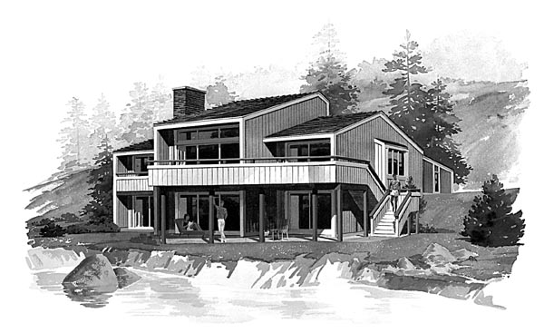 Contemporary House Plan 95013 Elevation