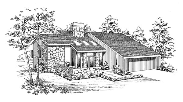 Contemporary House Plan 95021 Elevation