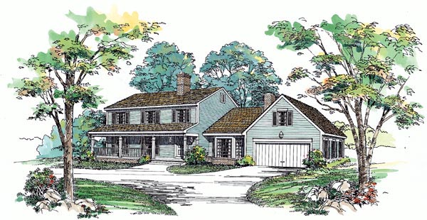 Country House Plan 95022 Elevation