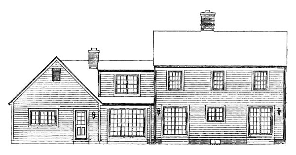 Country House Plan 95022 Rear Elevation