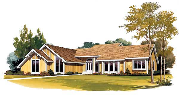 Contemporary House Plan 95024 Elevation