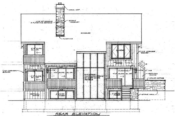 Contemporary House Plan 95026 Rear Elevation
