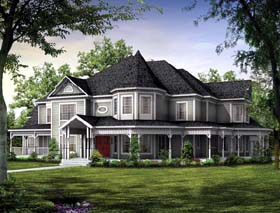 Victorian House Plan 95027 Elevation