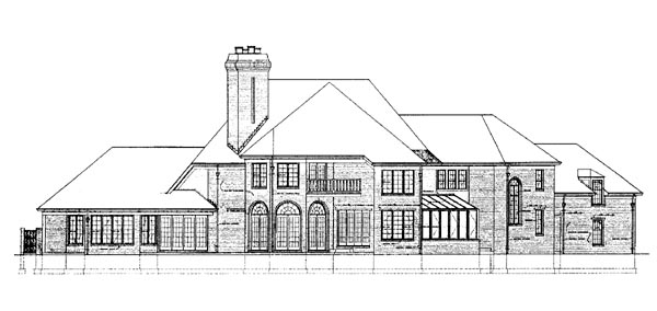 European House Plan 95029 Rear Elevation