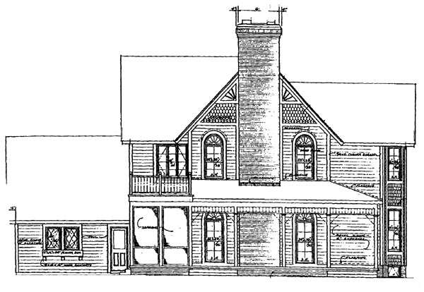 Farmhouse Victorian House Plan 95030 Rear Elevation