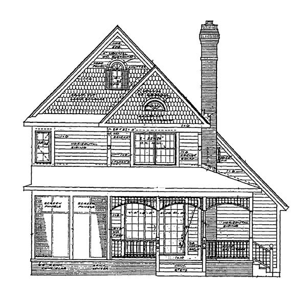 Craftsman House Plan 95031 Rear Elevation