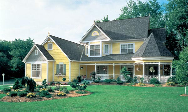Country Farmhouse Victorian House Plan 95033 Elevation