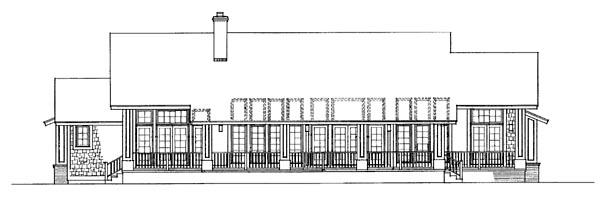 Bungalow Craftsman House Plan 95037 Rear Elevation