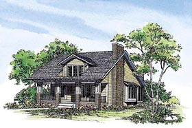 Craftsman , Bungalow House Plan 95038 with 3 Beds, 3 Baths Elevation