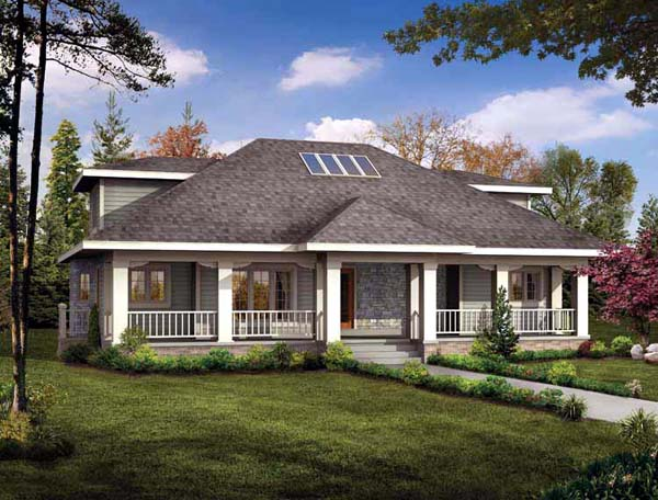 Southwest House Plan 95040 with 3 Beds, 3 Baths Elevation