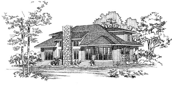 Southwest House Plan 95040 with 3 Beds, 3 Baths Picture 1