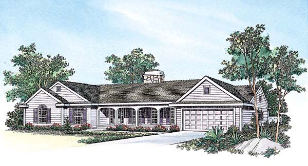Ranch House Plan 95042 Elevation