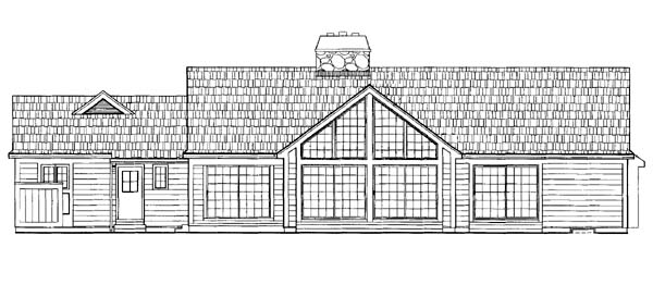 Ranch House Plan 95042 Rear Elevation