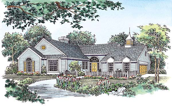 Ranch House Plan 95043 Elevation