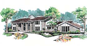 Contemporary House Plan 95046 Elevation