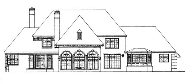 Traditional House Plan 95047 Rear Elevation