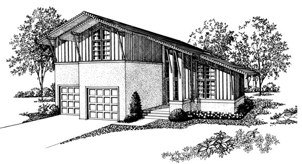 Contemporary House Plan 95048 Elevation