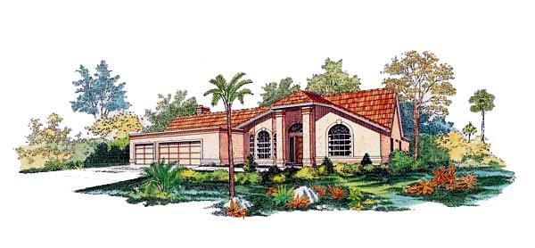 Mediterranean House Plan 95049 Elevation