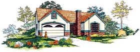 Plan Number 95050 - 1375 Square Feet