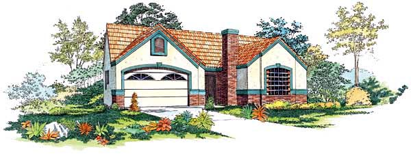Ranch House Plan 95050 Elevation