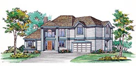 Contemporary House Plan 95054 Elevation