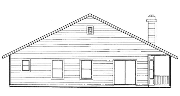 Traditional House Plan 95055 Rear Elevation