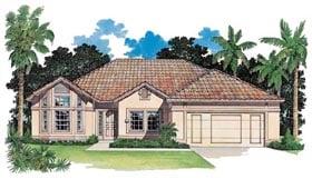 Florida House Plan 95056 Elevation