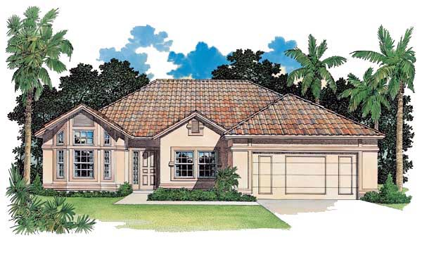 Florida House Plan 95056 Elevation