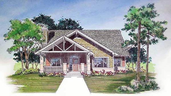 Craftsman House Plan 95057 Elevation