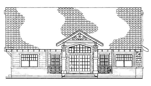 Craftsman House Plan 95057 Rear Elevation