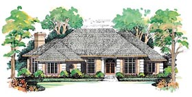 Traditional House Plan 95059 with 3 Beds, 3 Baths, 2 Car Garage Elevation