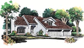 Contemporary House Plan 95061 with 3 Beds, 3 Baths, 3 Car Garage Elevation