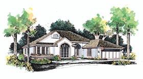 Mediterranean House Plan 95062 with 3 Beds, 3 Baths, 2 Car Garage Elevation