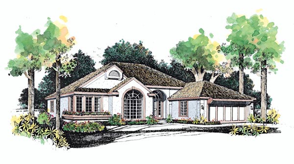 Mediterranean House Plan 95062 Elevation