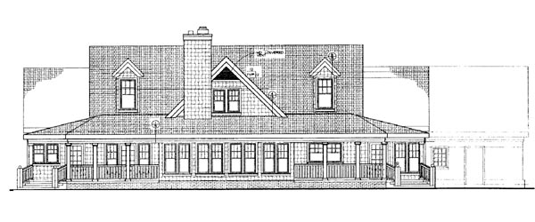 Traditional House Plan 95063 Rear Elevation